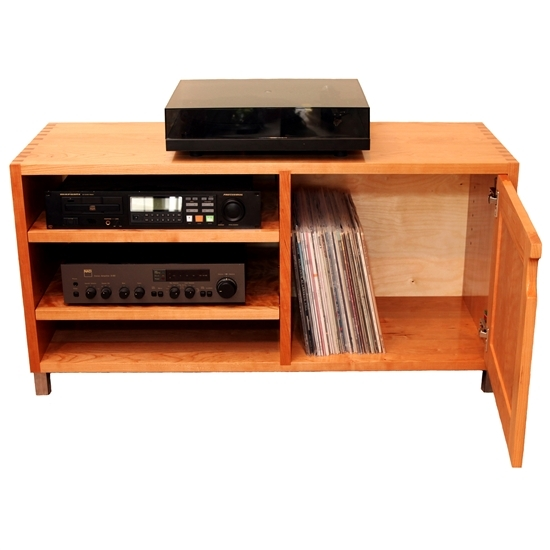 Fantastic Premium Orange TV Stands Throughout Gerton Short Tv Stand Media Cabinet In Cherry (Image 21 of 50)
