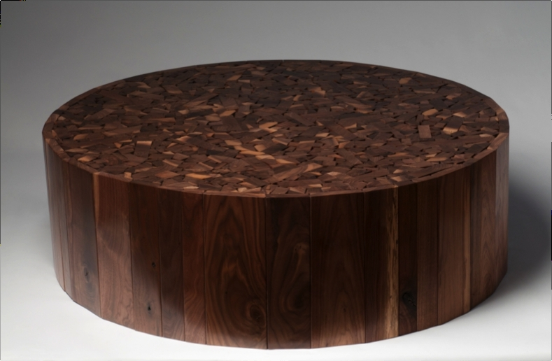 Fantastic Premium Puzzle Coffee Tables Intended For Walnut Wood Round Coffee Table Designer Looks (Image 16 of 40)