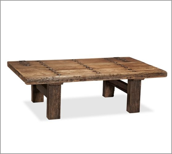 Fantastic Premium Reclaimed Wood Coffee Tables Inside Hastings Reclaimed Wood Rectangular Coffee Table Pottery Barn (View 28 of 50)