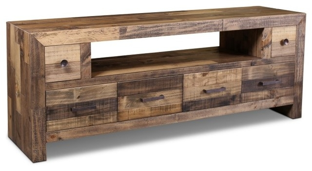 Fantastic Premium Rustic Coffee Table And TV Stands Within Rustic Style Fulton Tv Stand 72 Rustic Entertainment Centers (Image 22 of 50)