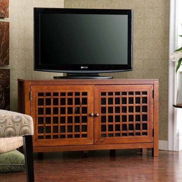 Fantastic Premium Walnut Corner TV Stands Pertaining To Walnut Corner Tv Standmedia Cabinet (Image 23 of 50)
