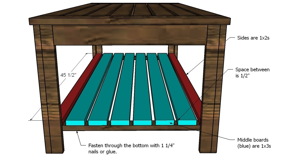 Fantastic Series Of Coffee Tables With Shelves Regarding Ana White Build An Outdoor Coffee Table Hamptons Outdoor Table (Image 23 of 50)