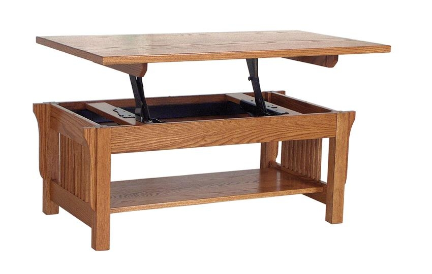 Fantastic Series Of Flip Top Coffee Tables Inside Coffee Table Amish Lift Top Coffee Table Solid Oak Coffee Table (View 24 of 50)