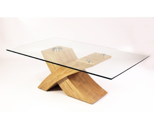Fantastic Series Of Glass And Oak Coffee Tables In Milano X Glass Wood Coffee Table Oak Best Offers (Image 18 of 50)