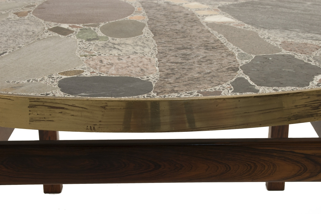 Fantastic Series Of Glass And Stone Coffee Table Regarding Coffee Table Round Stone Top Coffee Table Image Detail View (Image 19 of 50)