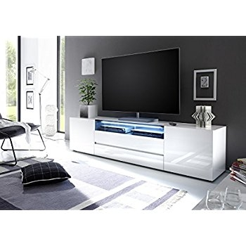 Fantastic Series Of High Gloss TV Cabinets For Amazon Tv Stand Milano 160 White Modern Led Tv Cabinet Tv (View 9 of 50)