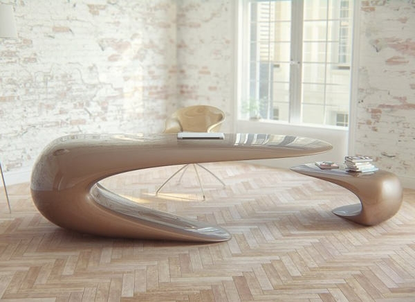 Fantastic Series Of Odd Shaped Coffee Tables Intended For 20 Uniquely Designed Workstations Office Desks Hongkiat (Image 24 of 50)