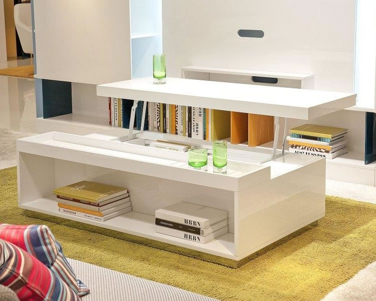 Fantastic Series Of Rising Coffee Tables With Regard To The Unique Lift Top Coffee Table White (Image 21 of 50)