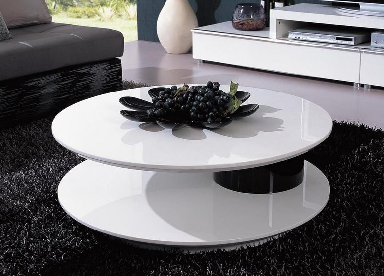 Fantastic Series Of Round High Gloss Coffee Tables In Round White Coffee Table Modern Table And Estate (View 23 of 50)