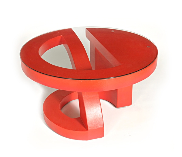 Fantastic Series Of Round Red Coffee Tables Inside Red Trunk Coffee Table 14 Excellent Red Coffee Table Image Ideas (Image 23 of 50)