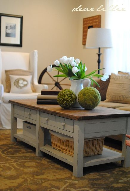 Fantastic Series Of Rustic Coffee Tables With Bottom Shelf In Best 10 Painted Coffee Tables Ideas On Pinterest Farm Style (View 20 of 50)