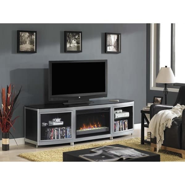 Fantastic Series Of Silver TV Stands Regarding Gotham Tv Stand For Tvs Up To 80 Inch With 26 Inch Contemporary (Image 18 of 50)