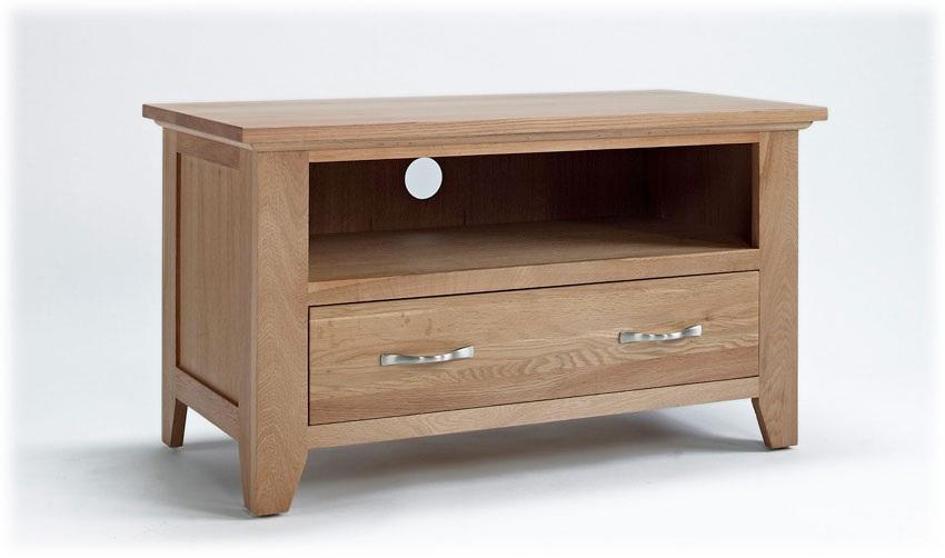 Fantastic Series Of Small Oak TV Cabinets Pertaining To Small Oak Tv Unit Sherwood Oak Range (View 9 of 50)