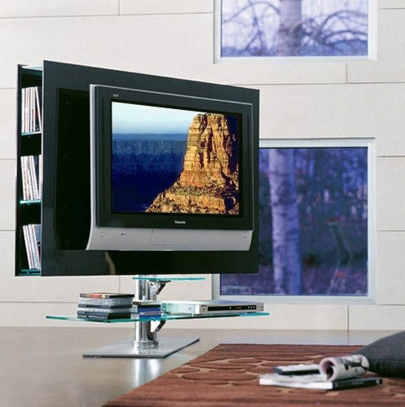 Fantastic Series Of Swivel Black Glass TV Stands With Tv Stands Outstanding Swivel Tv Stands For Flat Screens  (Image 25 of 50)