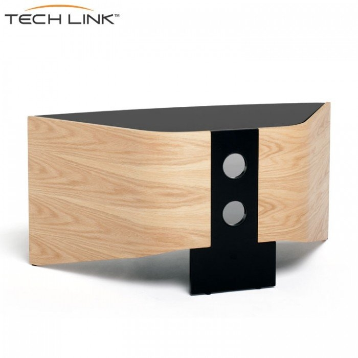 Fantastic Series Of Techlink Riva TV Stands Within Techlink Rv100lo Riva Corner Tv Stand In Light Oak And Black Glass (Image 19 of 50)