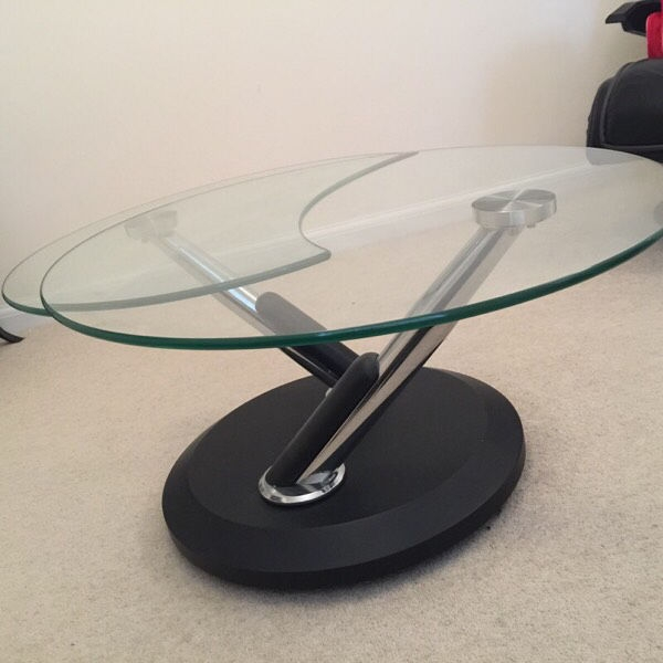 Fantastic Series Of Tokyo Coffee Tables Within Bargain Deal Tokyo Twist Glass Coffee Table In Stevenage (Image 24 of 50)
