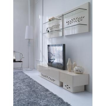 Fantastic Series Of White Gloss TV Cabinets Inside Tempered Glass In Cream Color And Mdf Tv Cabinet In High Gloss (Image 20 of 50)