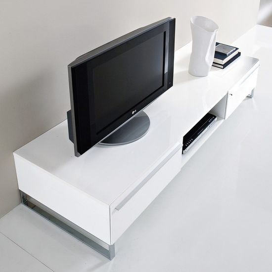 Fantastic Series Of White Gloss TV Stands Intended For Modern Wall Units And Tv Stands (Image 25 of 50)