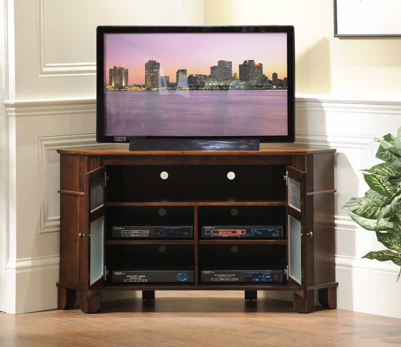 Fantastic Series Of Wooden TV Cabinets With Glass Doors Inside Tv Stands Cheap Tv Stands With Doors And Glass Design Ideas Tv (Image 26 of 50)