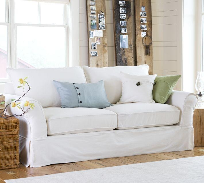 Fantastic Slip Covered Sofa With Natural Canvas Slipcover For Within Canvas Slipcover Sofas (Image 12 of 20)