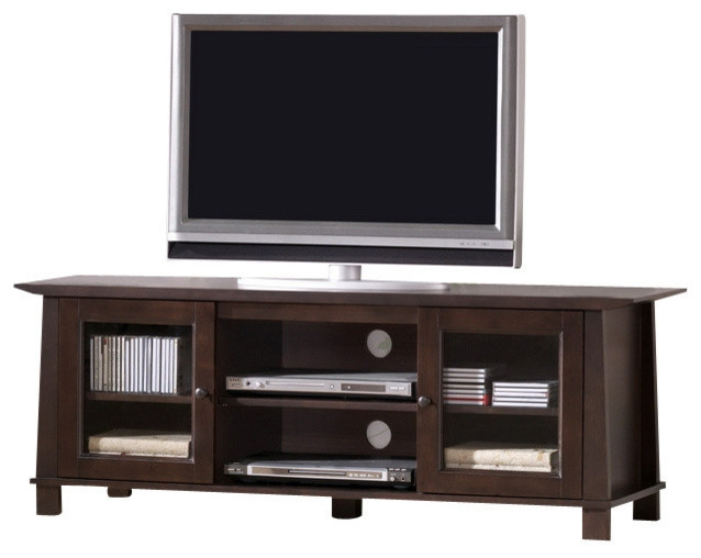 Fantastic Top Brown TV Stands Intended For Baxton Studio Havana Brown Wood Modern Tv Stand Transitional (View 13 of 45)