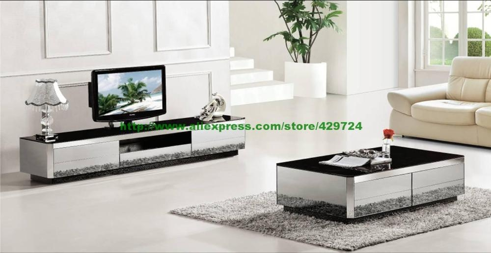 Fantastic Top Coffee Table And Tv Unit Sets Throughout Aliexpress Buy Coffee Tabletv Cabinet 2 Piece Set Modern (Image 21 of 50)