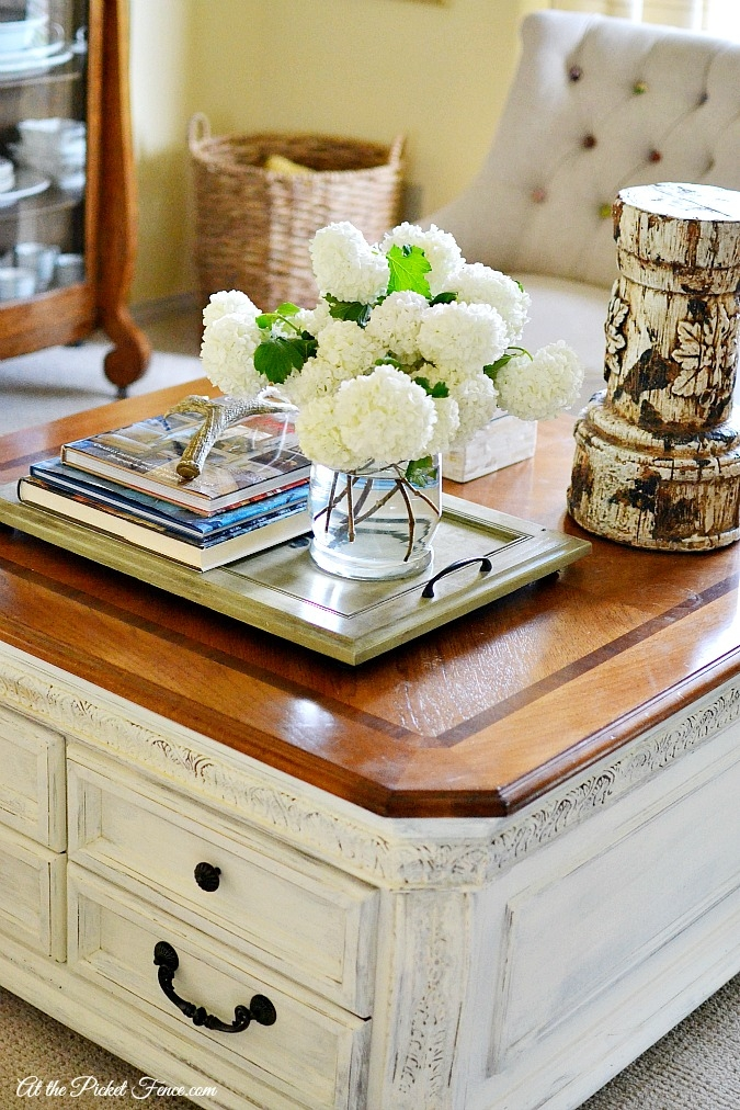 Fantastic Top Country French Coffee Tables Pertaining To Chalky Finish Coffee Table Makeover At The Picket Fence (Image 20 of 50)