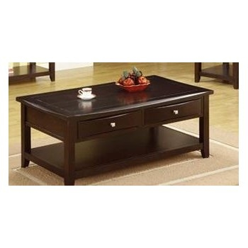 Fantastic Top Espresso Coffee Tables With Regard To Amazon Poundex Coffee Table With Storage Drawers In Espresso (View 16 of 50)