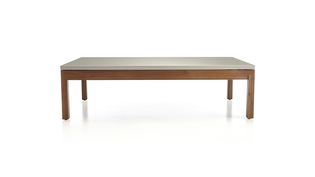 Fantastic Top Large Rectangular Coffee Tables Within Parsons Grey Solid Surface Top Elm Base 60×36 Large Rectangular (Image 18 of 40)
