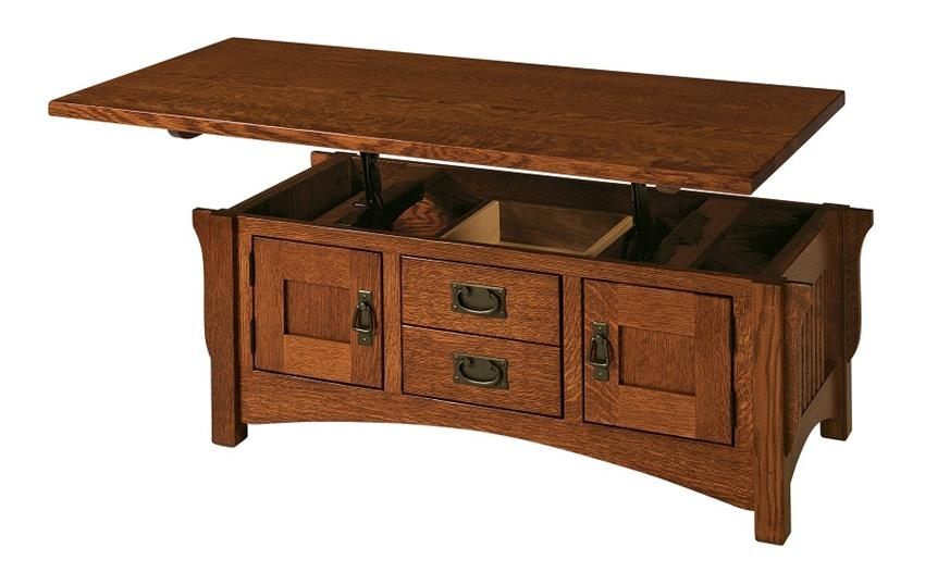 Fantastic Top Lift Top Coffee Tables Within Amish Logan Lift Top Coffee Table (Image 22 of 50)