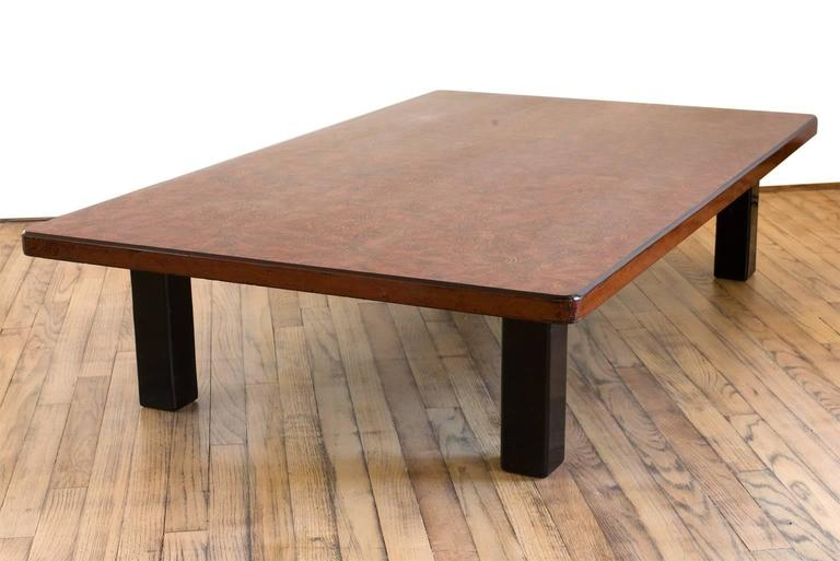 Fantastic Top Low Rectangular Coffee Tables Intended For Japanese Lacquer Low Rectangular Coffee Table Raised On Square (View 6 of 50)