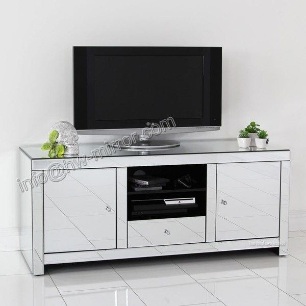 Fantastic Top Mirrored TV Cabinets Within Venetian Mirrored Tv Cabinet (View 9 of 50)