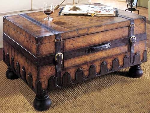 Fantastic Top Old Trunks As Coffee Tables With Regard To 88 Best Shab Trunks Images On Pinterest Vintage Suitcases (Image 18 of 50)