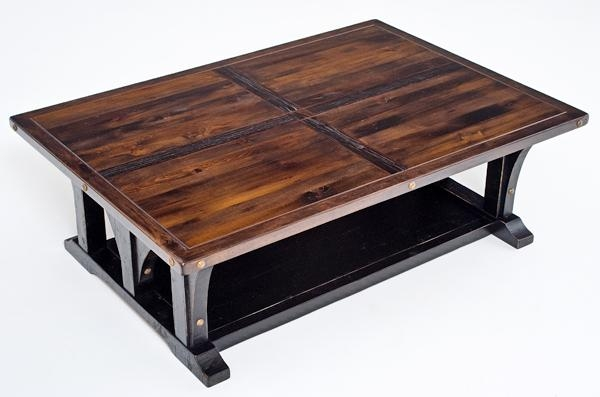 Fantastic Top Reclaimed Wood Coffee Tables With Rustic Cottage Coffee Table Painted Reclaimed Wood Unique (View 42 of 50)