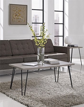 Fantastic Top Retro Oak Coffee Tables Pertaining To Amazon Ameriwood Home Owen Retro Coffee Table With Metal Legs (Image 27 of 50)
