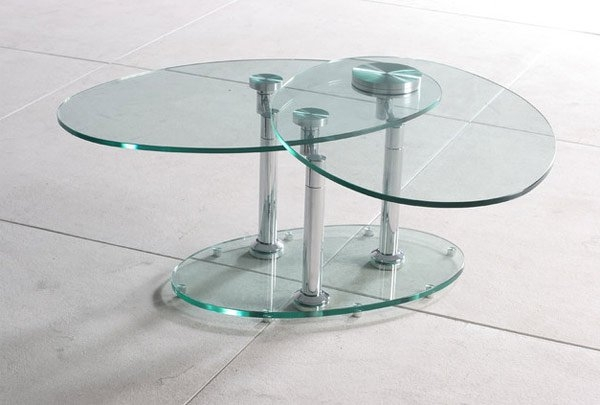 Fantastic Top Revolving Glass Coffee Tables With 20 Inimitable Styles Of Swiveling Glass Coffee Table Home Design (Image 14 of 40)