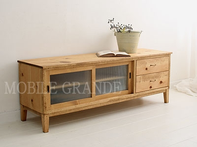 Fantastic Top Rustic Wood TV Cabinets Regarding Mobilegrande Rakuten Global Market Tv Cabinet W1400 Tv Board (View 50 of 50)