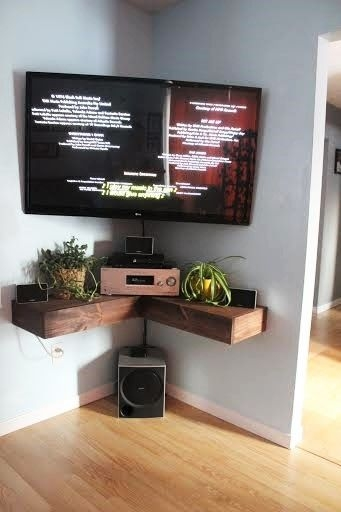 Fantastic Top TV Stands With Rounded Corners With Regard To Best 25 Floating Tv Stand Ideas On Pinterest Tv Wall Shelves (Image 16 of 50)