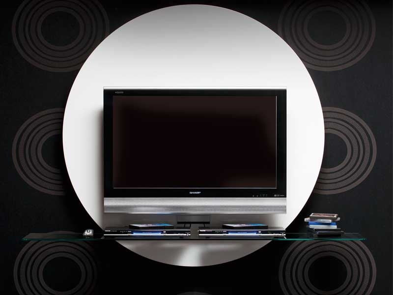 Fantastic Top Unusual TV Stands Within Contemporary Round Black White Tv Stands From Pacini (Image 26 of 50)