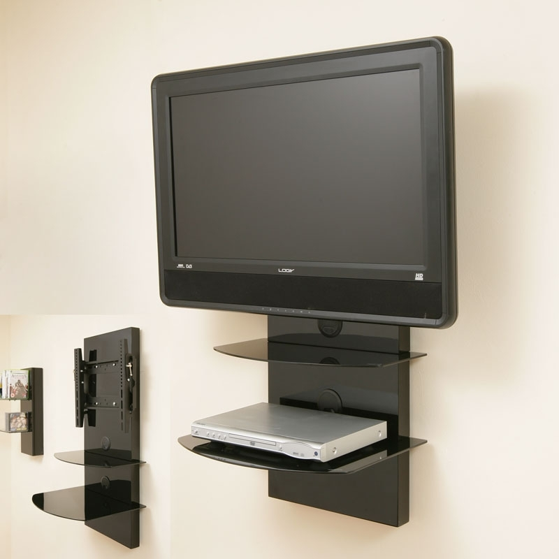 Fantastic Top Wall Mounted TV Stands With Shelves Within Wall Shelves Design Wall Mounts For Shelves Flat Screens (Image 28 of 50)