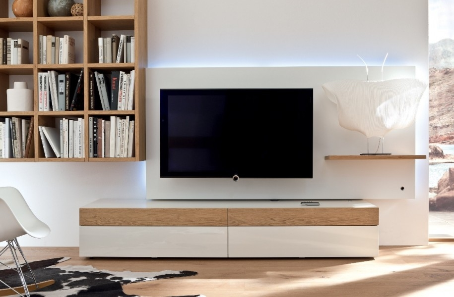 Fantastic Top White And Wood TV Stands Intended For Modern Tv Stands Enchanced The Modern Living Room Inoutinterior (Image 22 of 50)