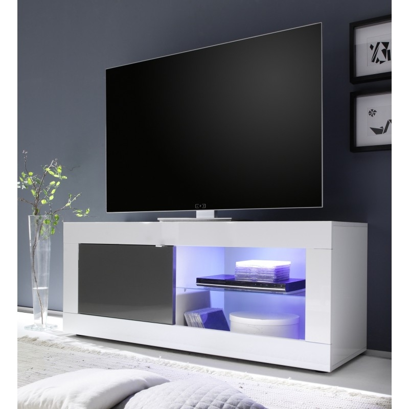 Fantastic Top White Gloss TV Stands Within Dolcevita Gloss Tv Stand Tv Stands Sena Home Furniture (Image 26 of 50)