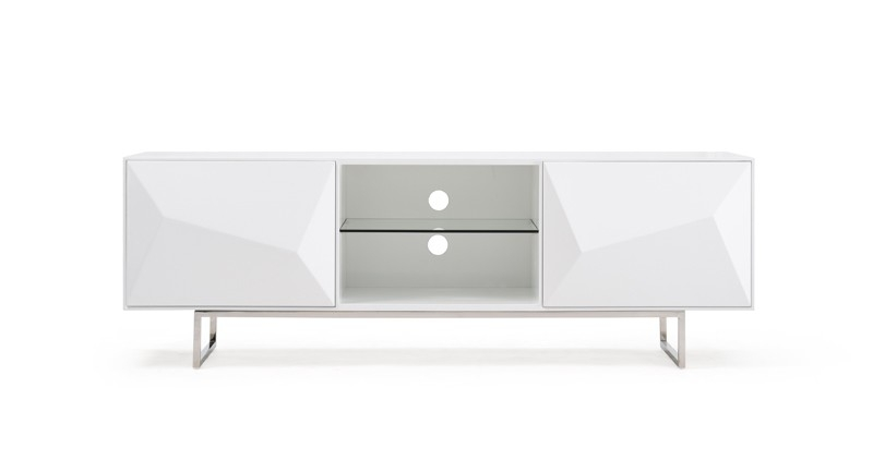 Fantastic Top White Modern TV Stands Inside Vanguard Modern White Tv Stand (Image 18 of 50)