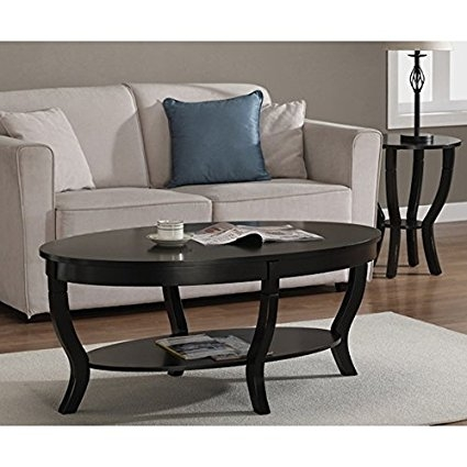 Fantastic Trendy Black Oval Coffee Tables With Regard To Amazon Lewis Distressed Black Oval Coffee Table Cell Phones (View 22 of 40)