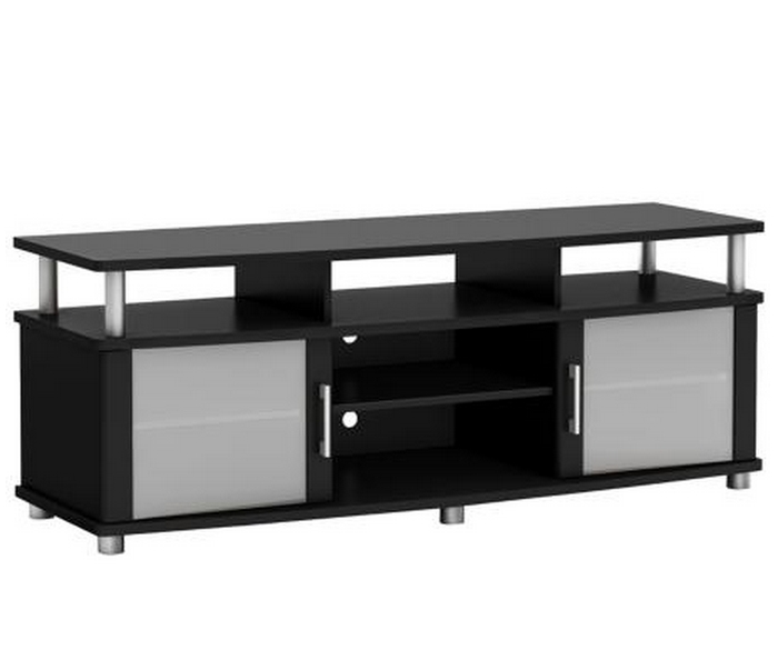 Fantastic Trendy Black TV Stands With Glass Doors Throughout Top 10 Modern Tv Stands For Your Living Room Cute Furniture (Image 17 of 50)