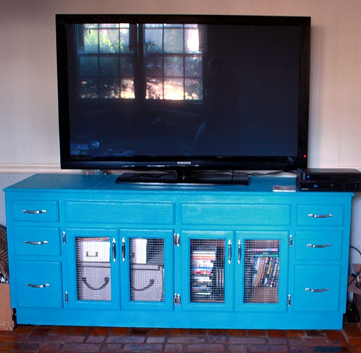 Fantastic Trendy Blue TV Stands For Crafty Hope Custom Wall Unit To Tv Stand Transformation (View 39 of 50)