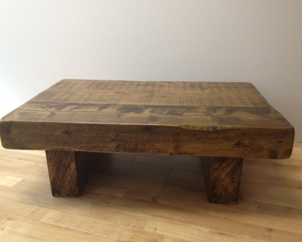 Fantastic Trendy Chunky Wood Coffee Tables Pertaining To The 3ft X 2ft Chunky Rustic Coffee Table Ely Rustic Furniture (Image 18 of 50)