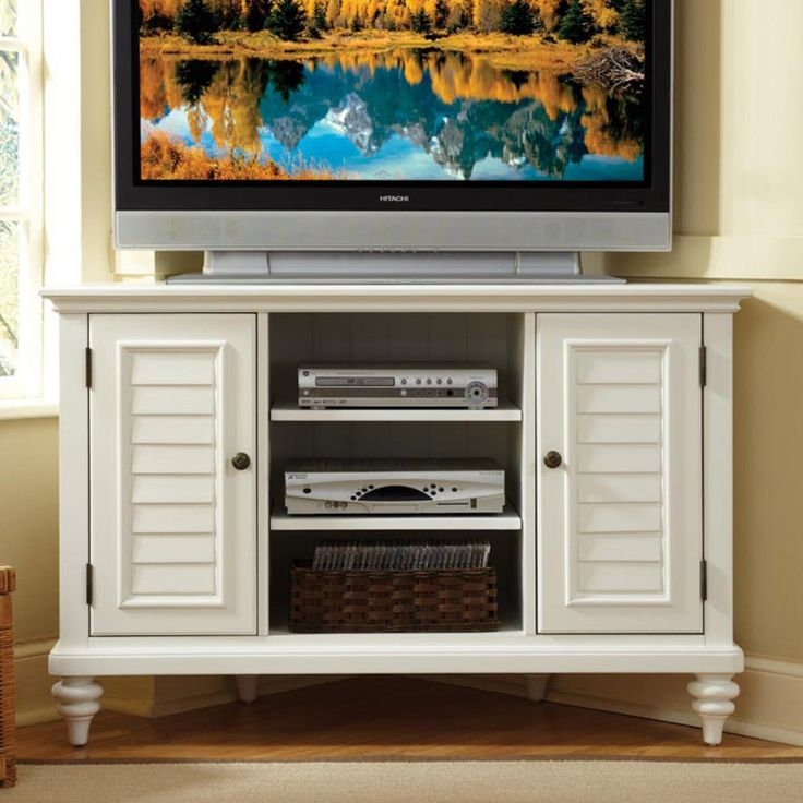 Fantastic Trendy Cream Corner TV Stands Within 23 Best Corner Tv Stands Images On Pinterest (Image 21 of 50)