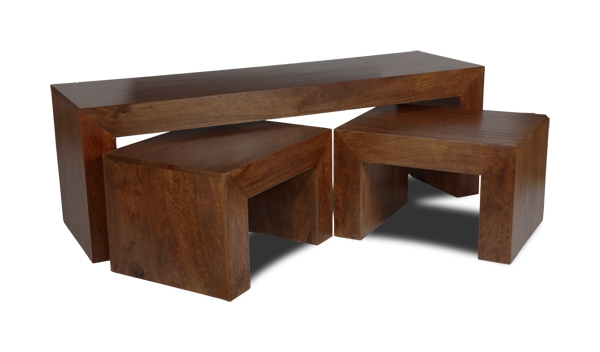 Fantastic Trendy Dark Mango Coffee Tables Inside Dakota Long John Coffee Table Trade Furniture Company (Image 12 of 40)