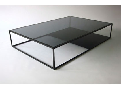 Fantastic Trendy Glass Steel Coffee Tables Throughout Steel Glass Coffee Table Amazing Home Design (Image 20 of 50)